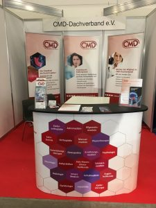 CMD-Dachverbandsstand auf Hamburger therapieMesse 2019